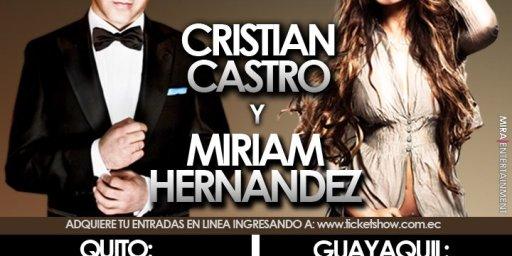 Cristian Castro y Mirian Hernandez