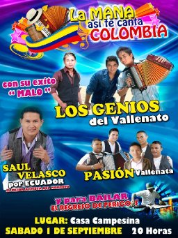 La Mana asi te canta Colombia